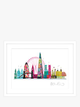 Ilona Drew - London Skyline Framed Print & Mount, 63 x 83 x 3.5cm