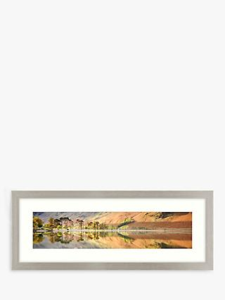 Mike Shepherd - Autumn Reflection Framed Print & Mount, 37 x 97cm