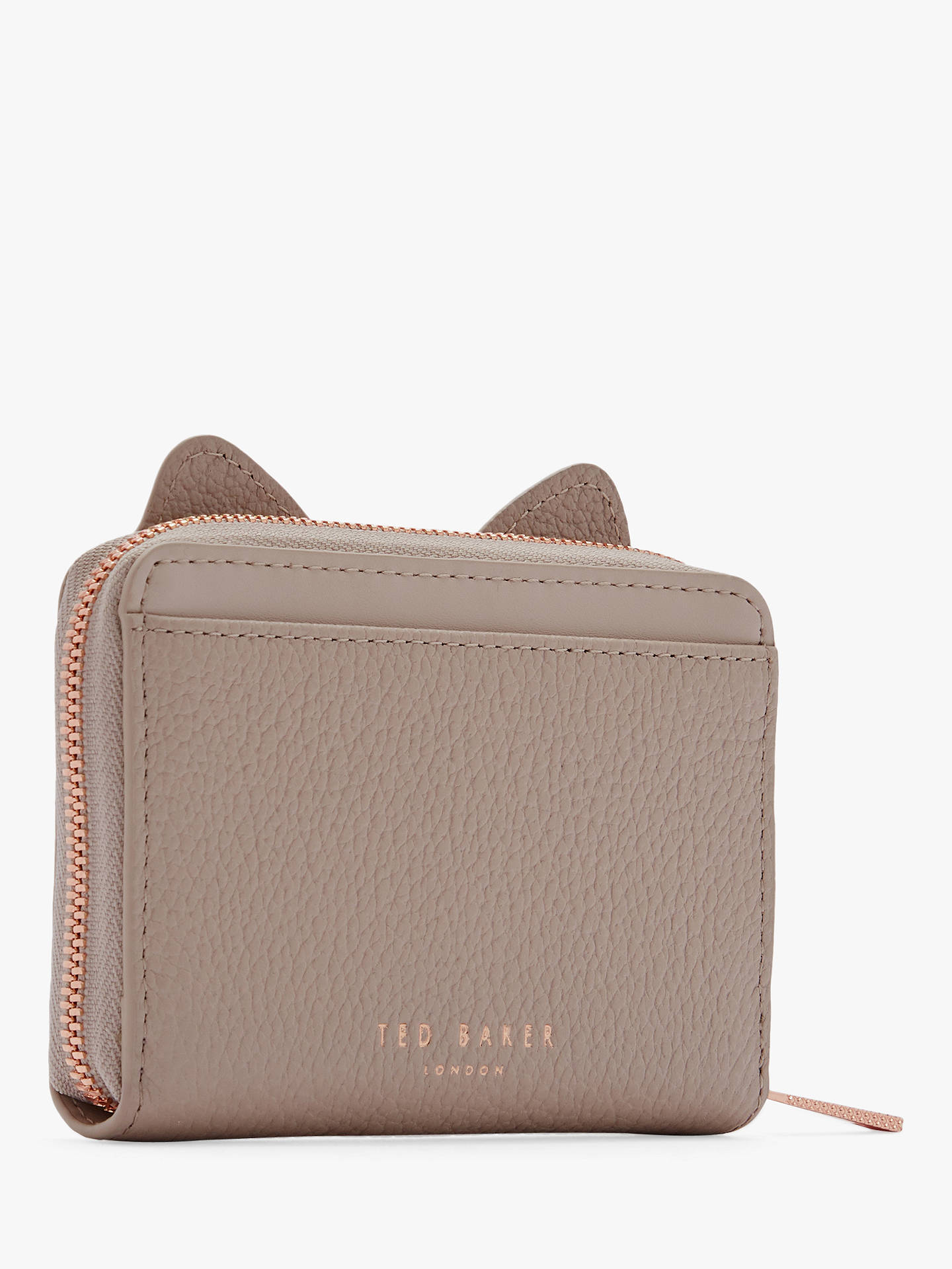 Buy Ted Baker Lohana Feline Leather Purse, Taupe Online at johnlewis.com