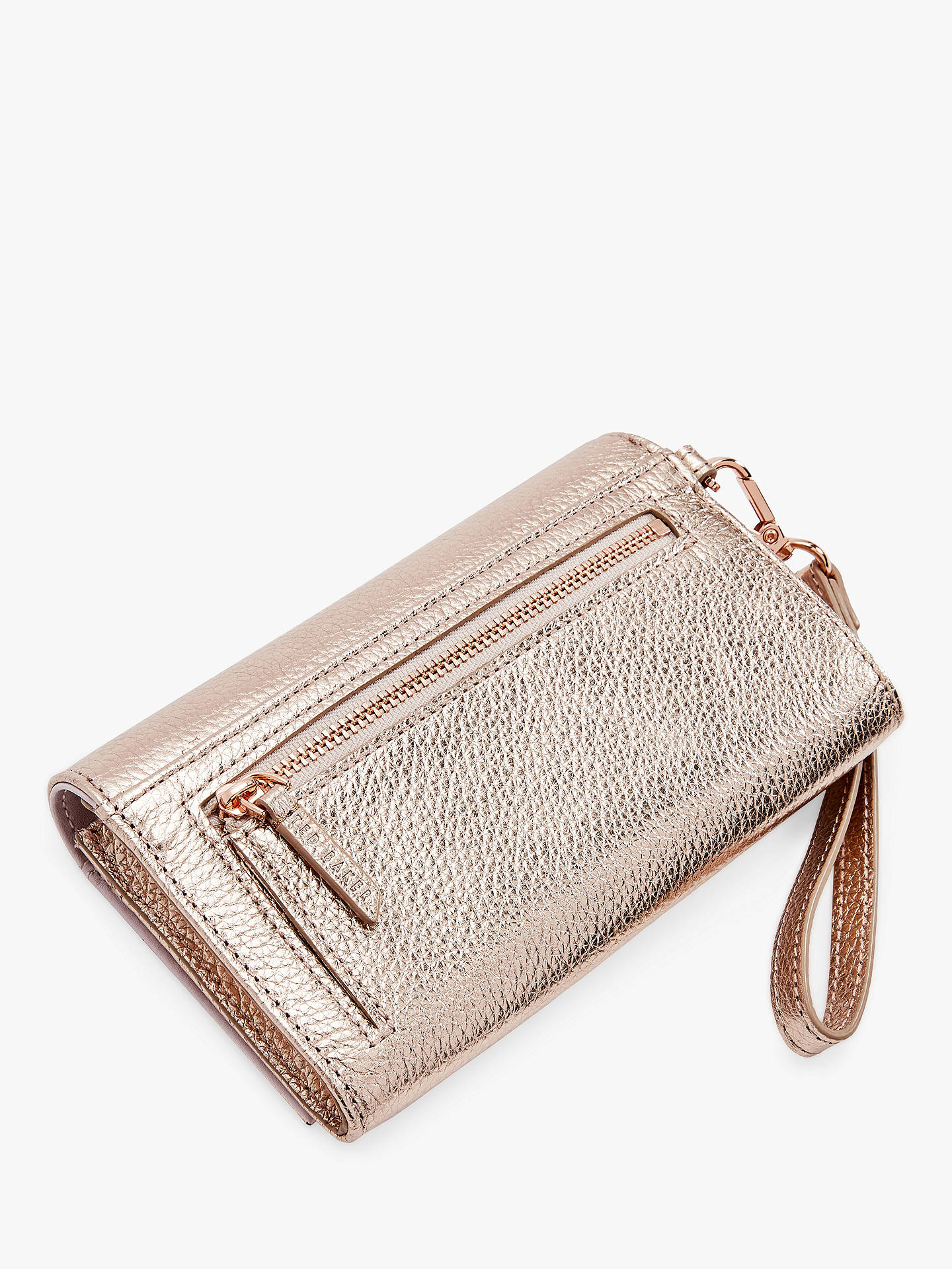 cf7cfd8ed15555 Ted Baker Holli Leather Wristlet Purse at John Lewis   Partners