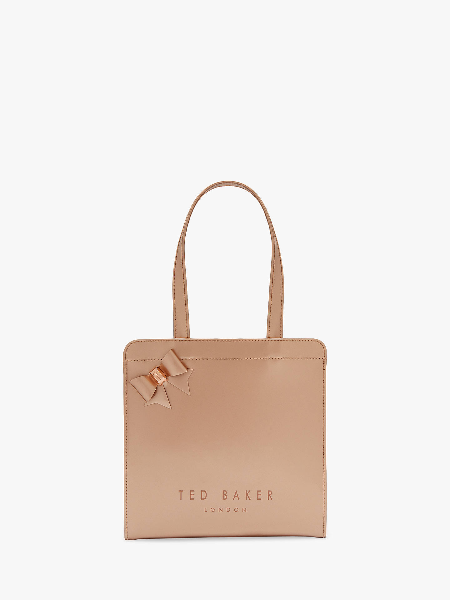 3f8d446e2f7 Buy Ted Baker Cleocon Bow Small Icon Shopper Bag, Metallic Bronze Online at  johnlewis.