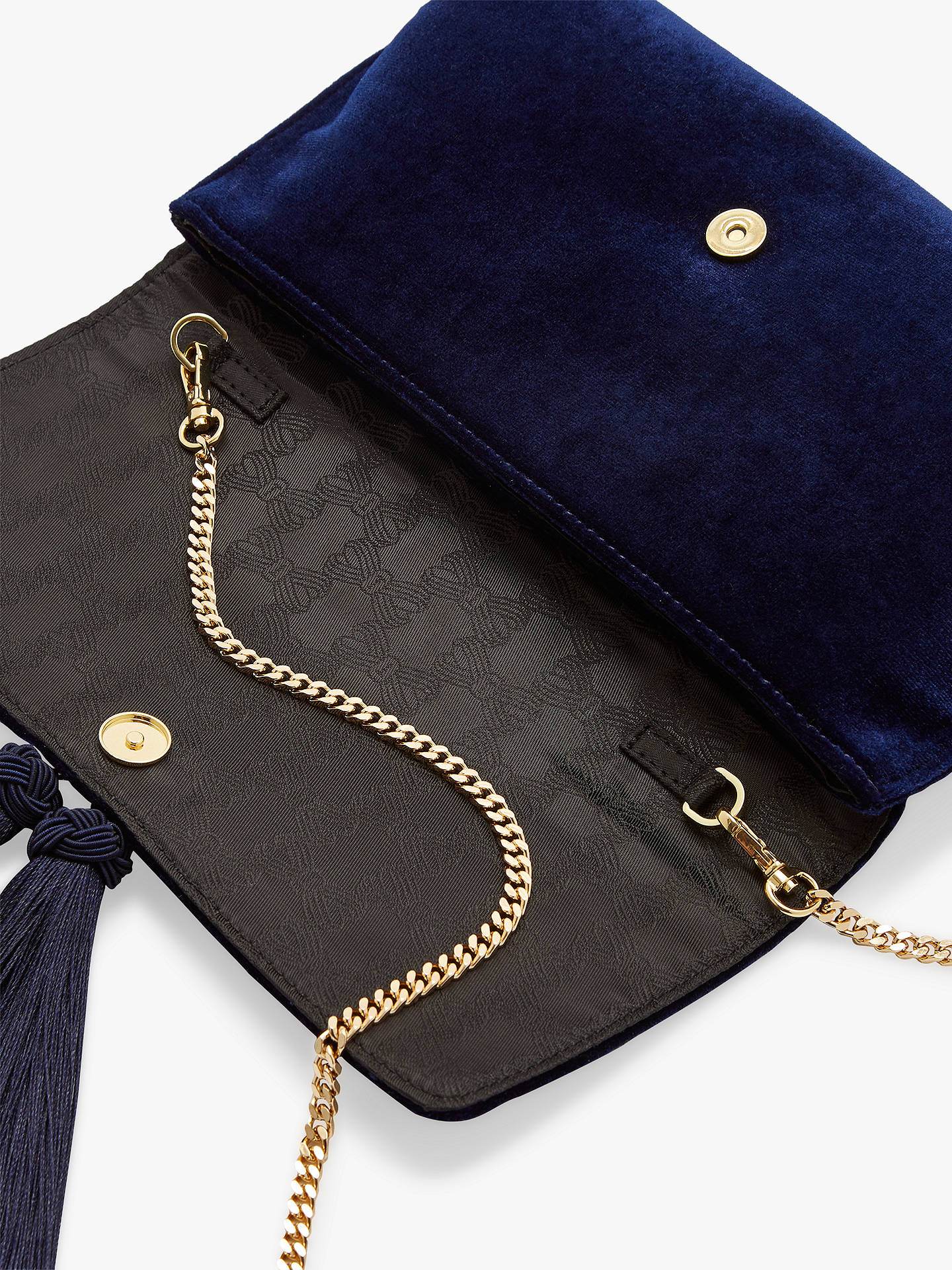 Buy Ted Baker Kasia Dragonfly Embroidered Clutch Bag, Dark Blue Online at johnlewis.com