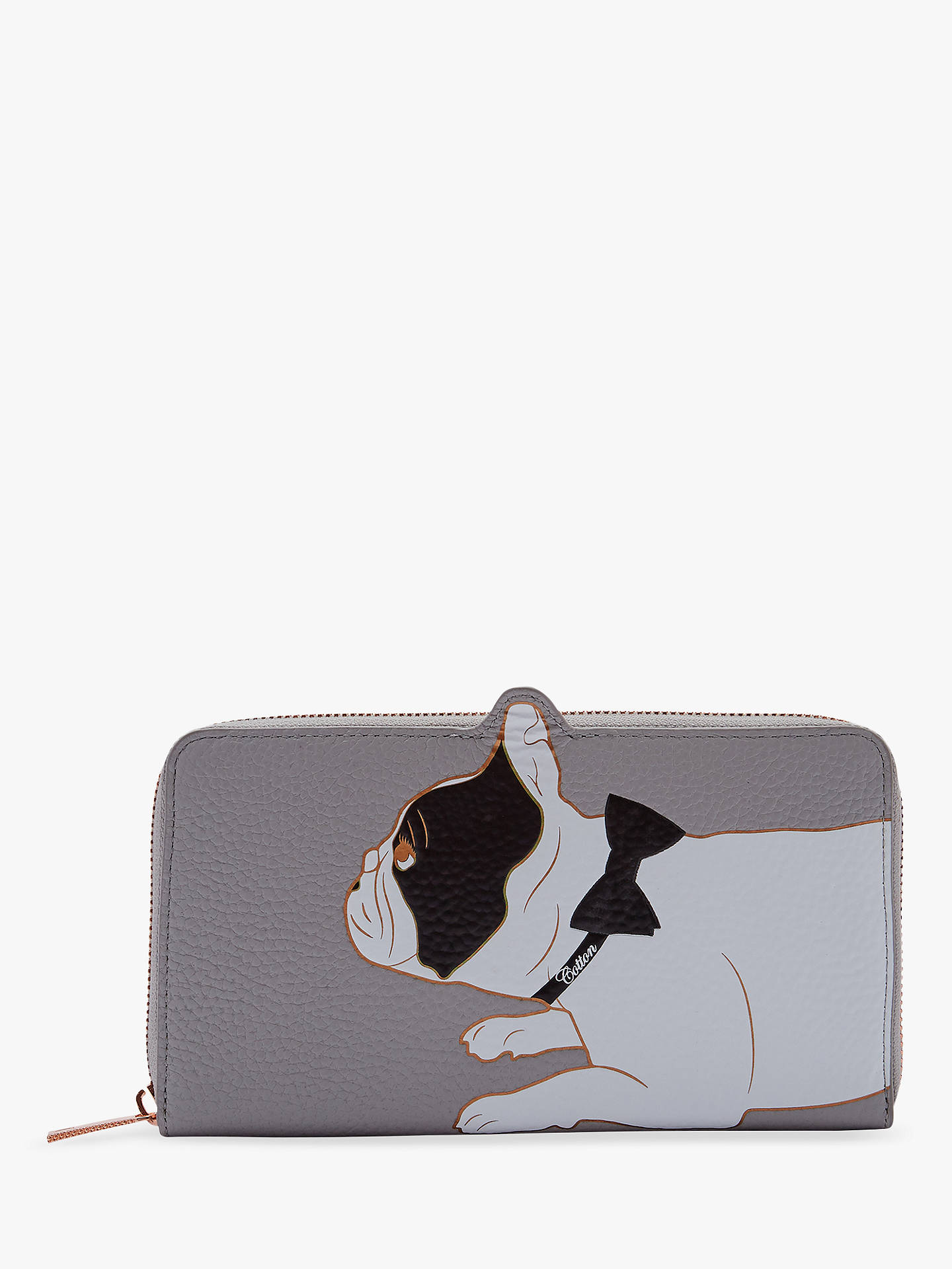 97ca5db810962a Buy Ted Baker Rumi Leather French Bulldog Zip Around Purse