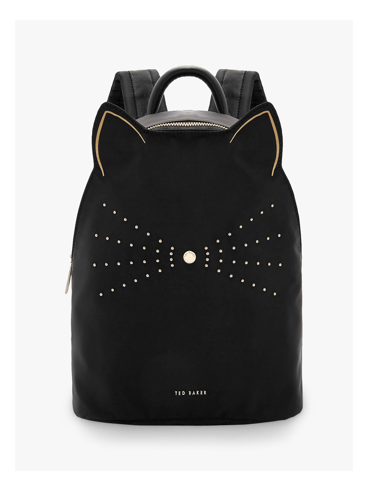 f44a5ab75e9c BuyTed Baker Katt Nylon Cat Whiskers Backpack, Black Online at  johnlewis.com ...