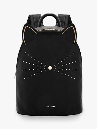 Ted Baker Katt Nylon Cat Whiskers Backpack Black