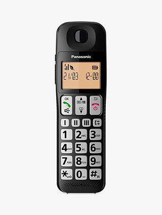 Buy Panasonic KX-TGE112EB Digital Cordless Telephone with Nuisance Call Blocker, Twin DECT Online at johnlewis.com