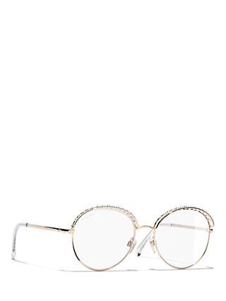7b652ec8e10d CHANEL Round Sunglasses CH4247H Gold Clear