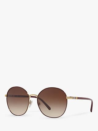 Burberry BE3094 Women's Round Sunglasses