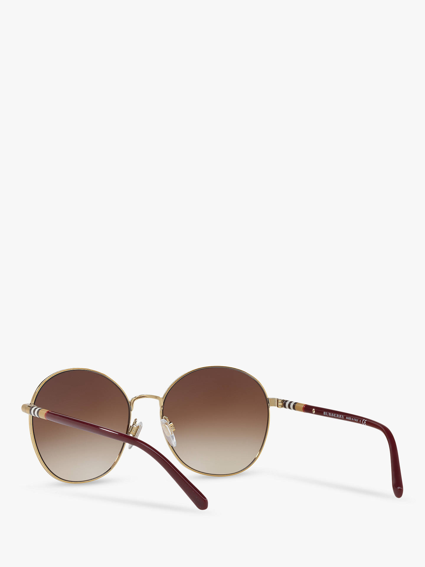 8871b547bc0f5b ... Buy Burberry BE3094 Women's Round Sunglasses, Gold/Brown Gradient  Online at johnlewis. ...