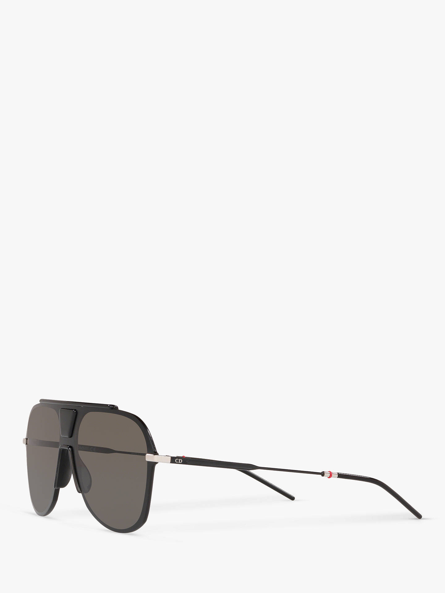 c04b503e32f7 Buy Dior Dior0224S Men's Aviator Sunglasses, Black/Grey Online at johnlewis.  ...