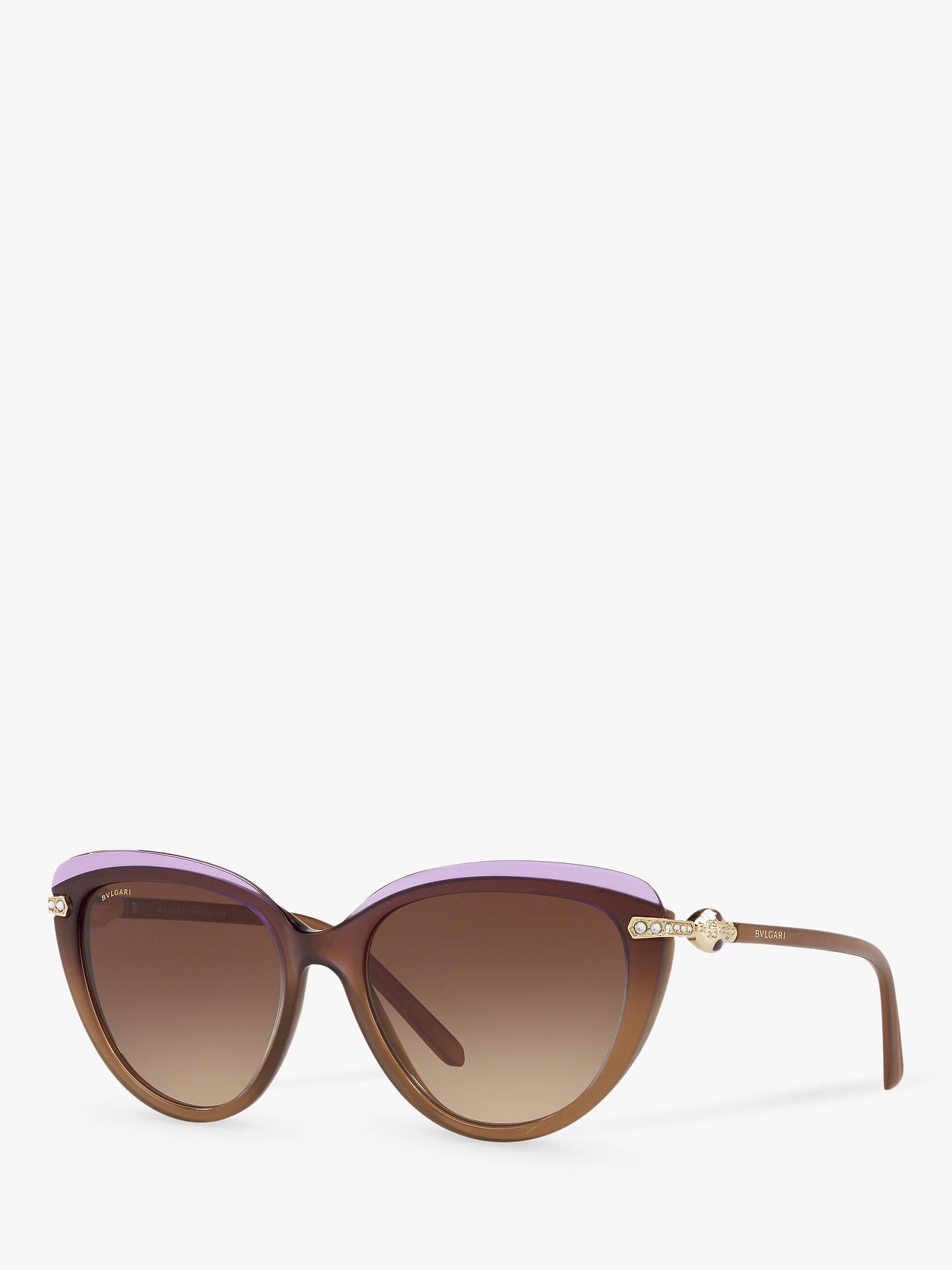 79ac9ebcf5967 BVLGARI BV8211B55 Women s Cat s Eye Sunglasses at John Lewis   Partners