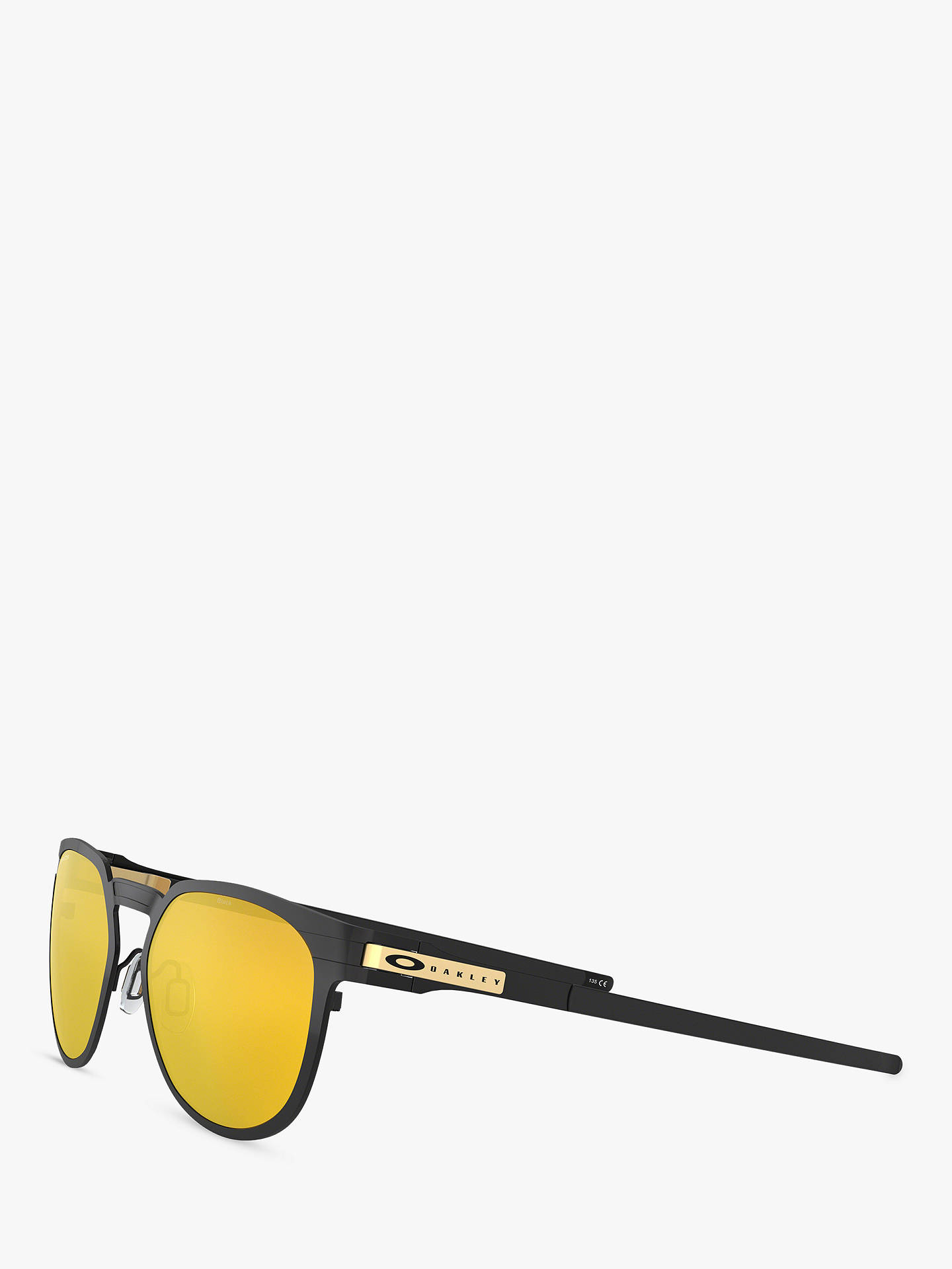 Buy Oakley OO4137 Unisex Diecutter Polarised Oval Sunglasses, Black/Yellow Online at johnlewis.com