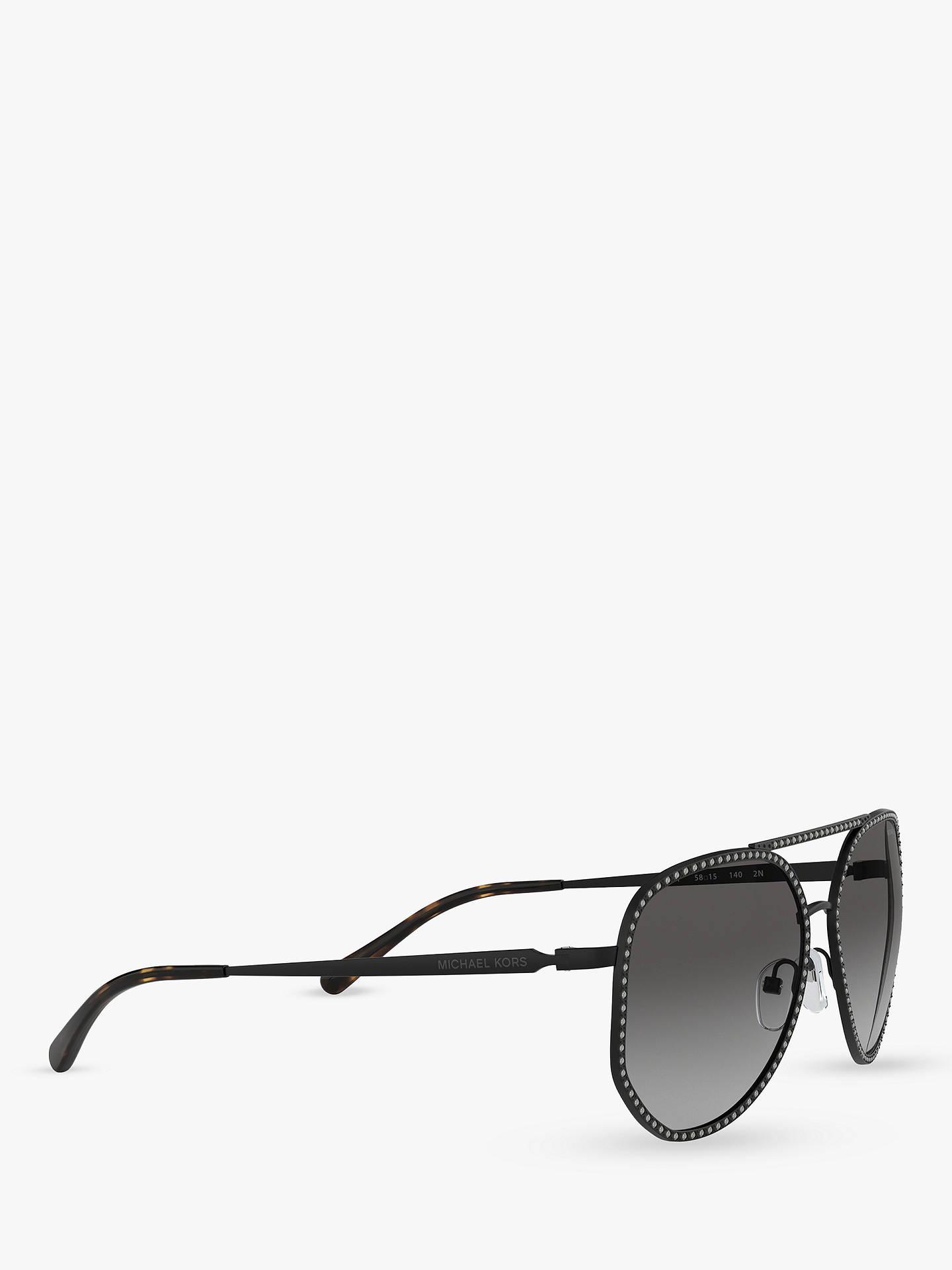 5325d1ae2 ... Buy Michael Kors MK1039B Women's Miami Sunglasses, Matte Black/Grey  Gradient Online at johnlewis