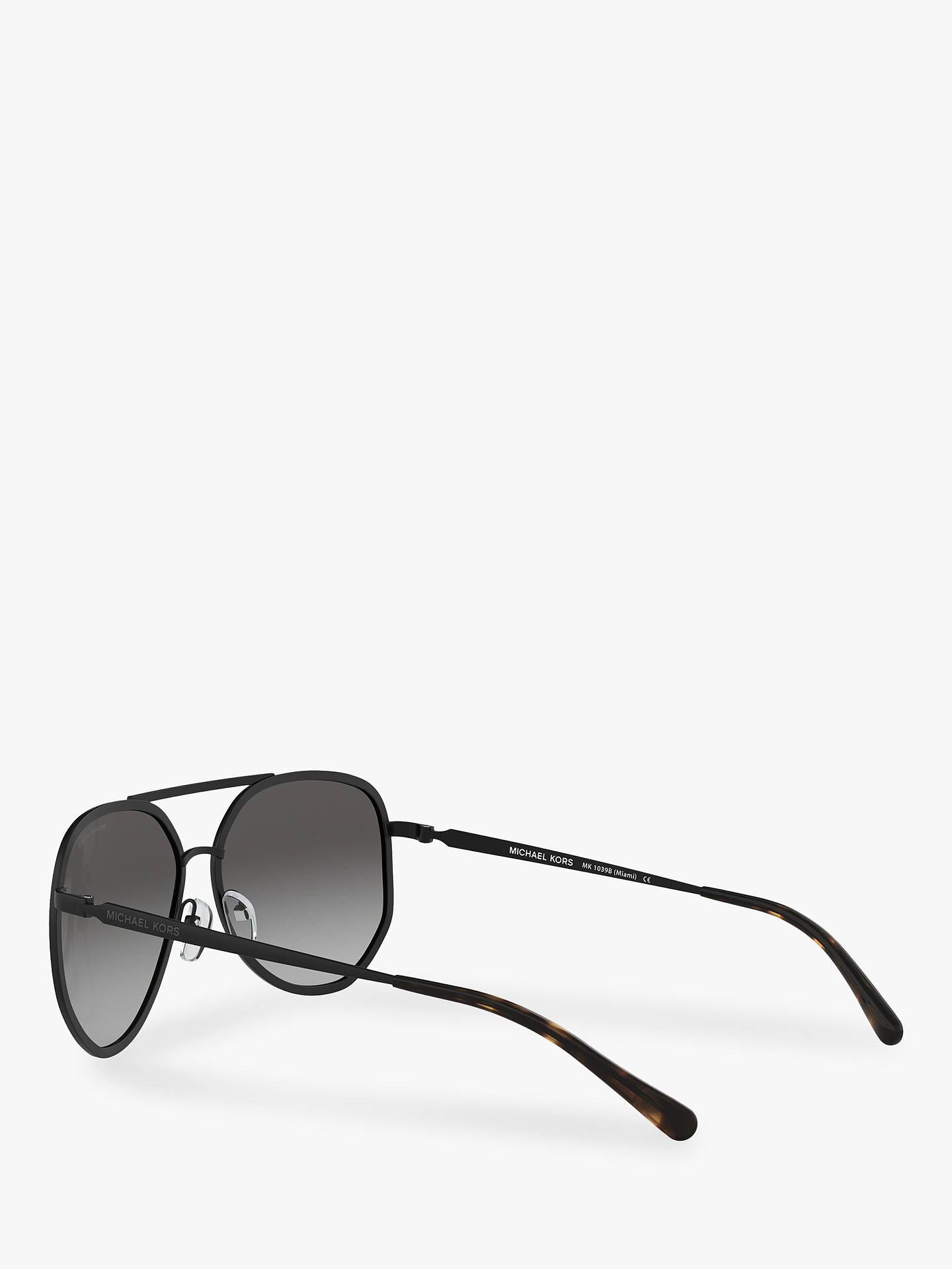 1fc808ab5 ... Buy Michael Kors MK1039B Women's Miami Sunglasses, Matte Black/Grey  Gradient Online at johnlewis ...