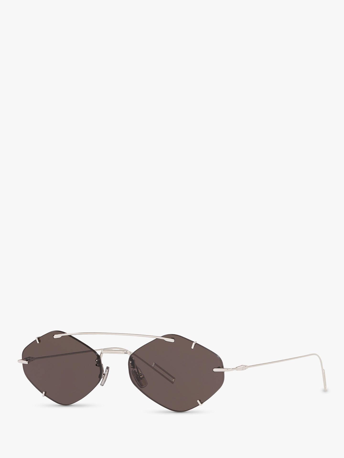 c943452f3b9e Buy Dior DiorInclusion Men's Asymmetric Sunglasses, Silver/Gunmetal Online  at johnlewis. ...