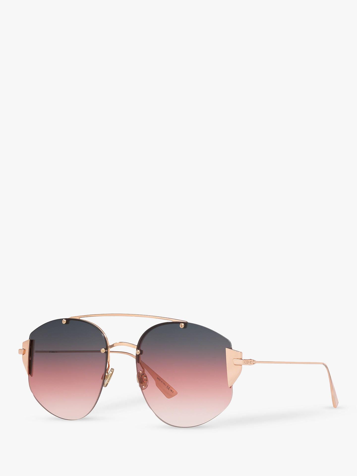 e9d077bb7fdc Buy Dior DiorStronger Women's Aviator Sunglasses, Gold/Pink Gradient Online  at johnlewis. ...