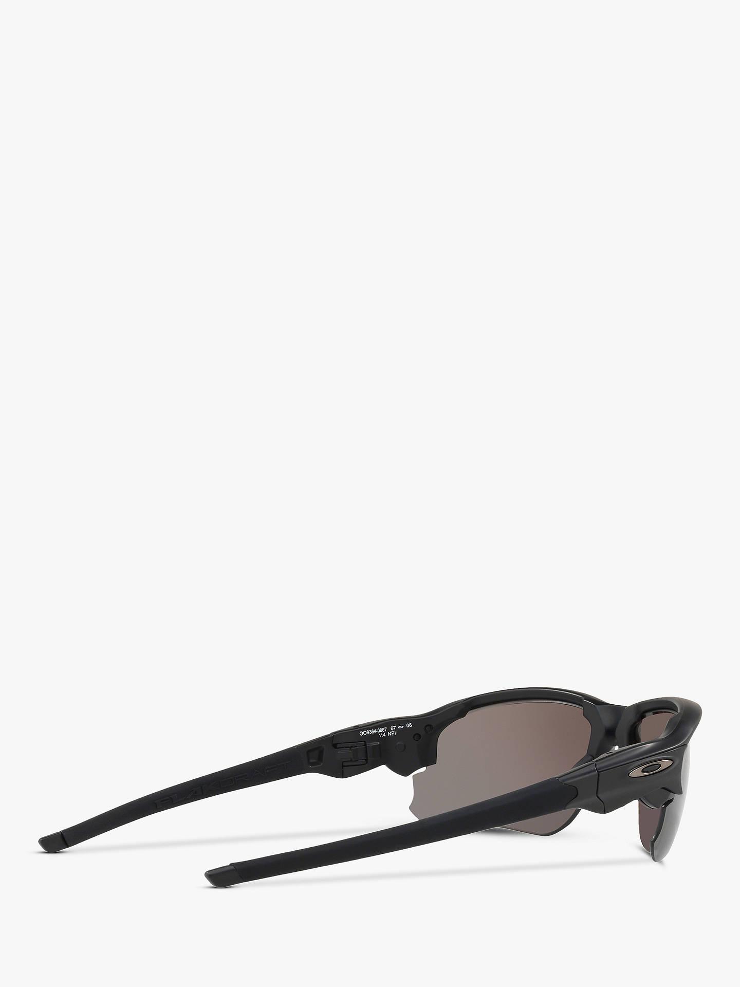 0cfd524da1 Oakley OO9364 Men s Flak Draft Prizm Polarised Wrap Sunglasses at ...