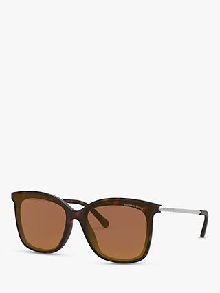 Michael Kors MK2079U Women's Zermatt Square Sunglasses, Tortoise/Brown