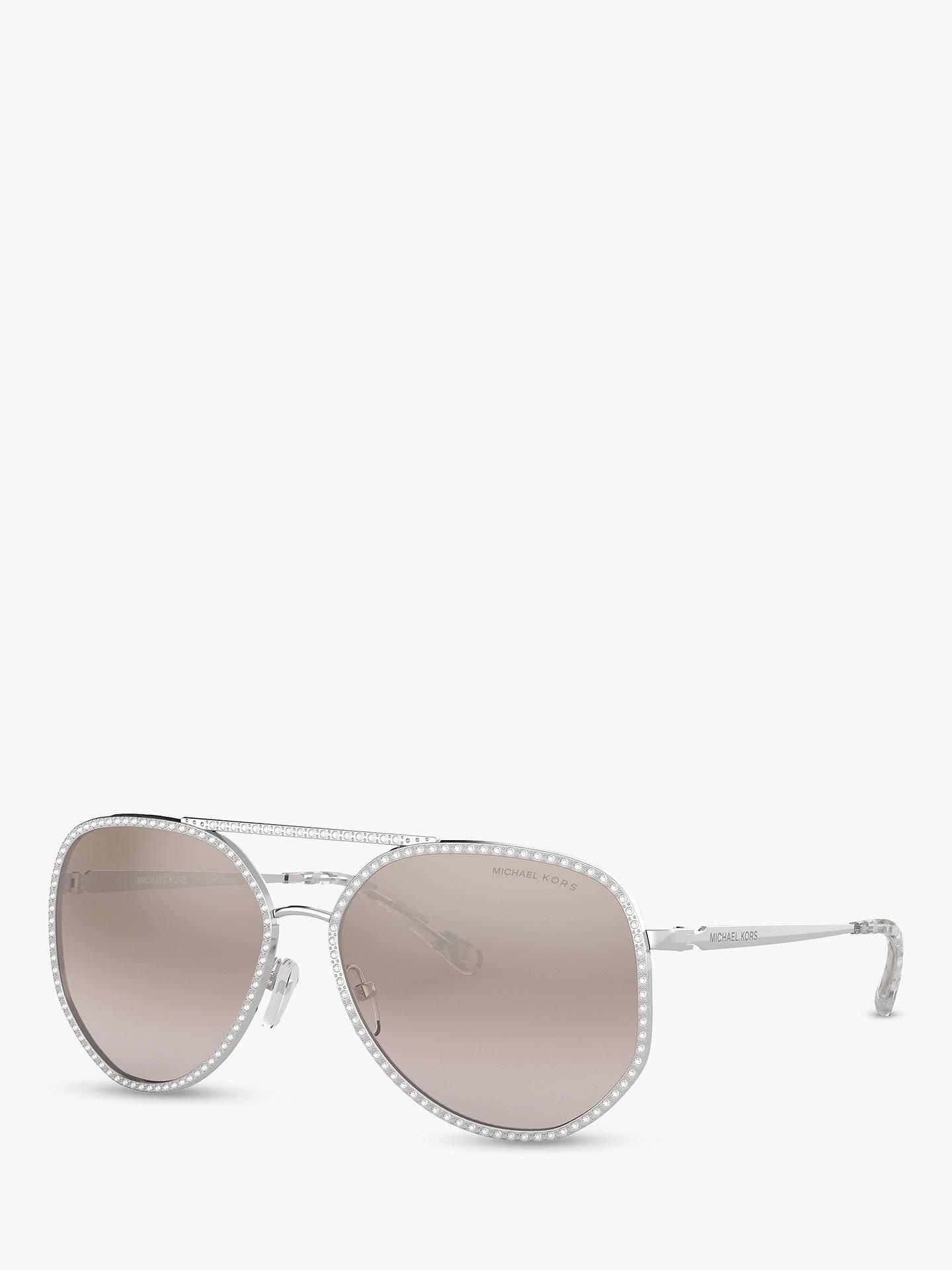 cbd791f3a Buy Michael Kors MK1039B Women's Miami Sunglasses, Silver/Pink Mirror  Online at johnlewis.