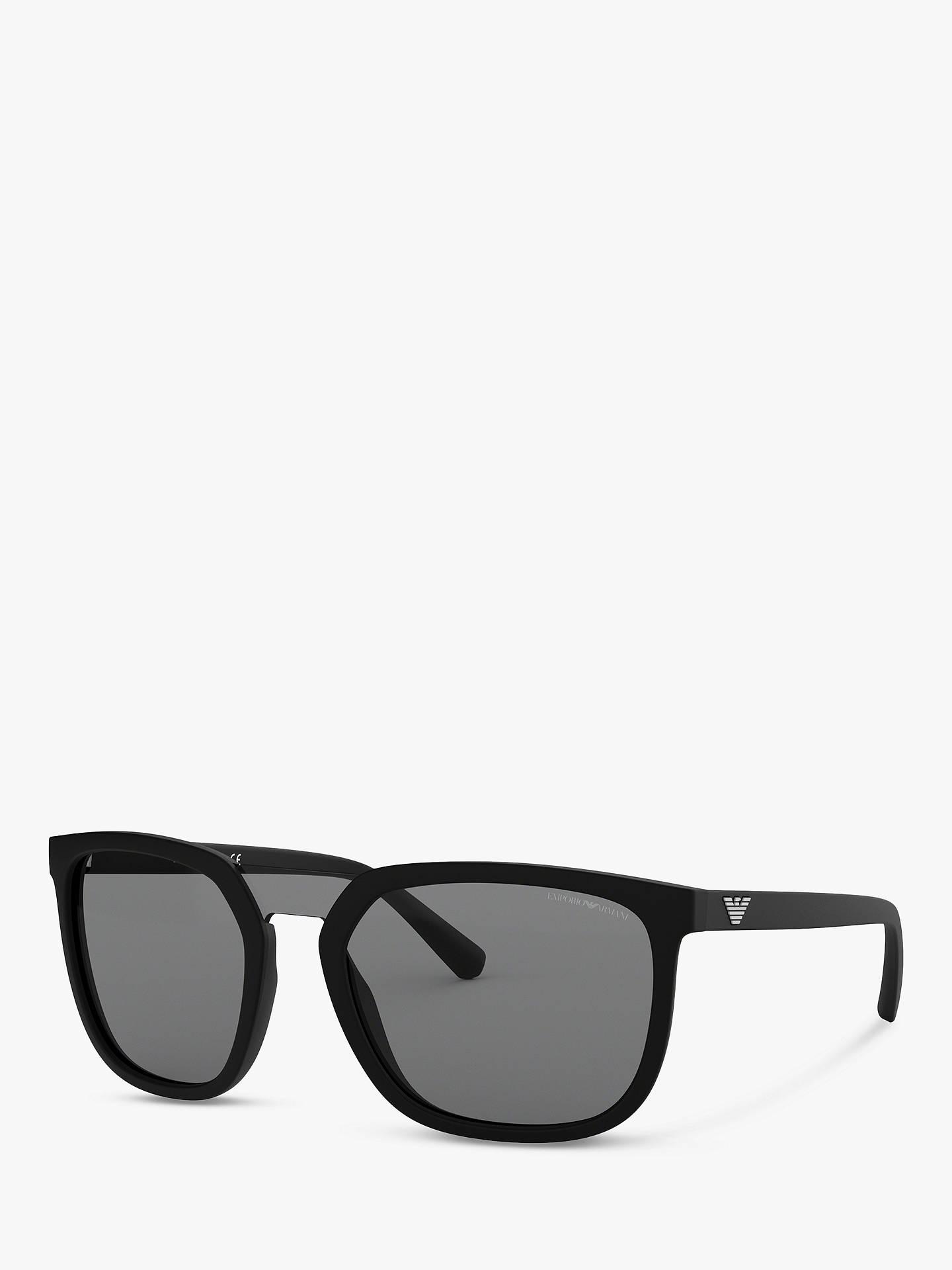 5b7790ba8a65 Emporio Armani EA4123 Men s Square Sunglasses at John Lewis   Partners