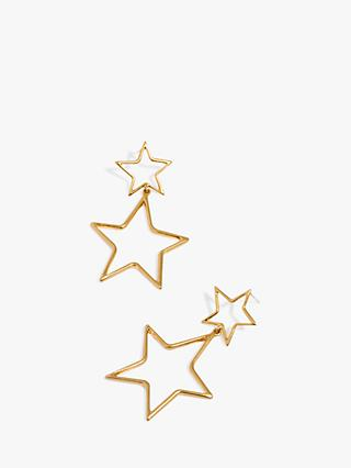 Madewell Star Drop Earrings, Gold