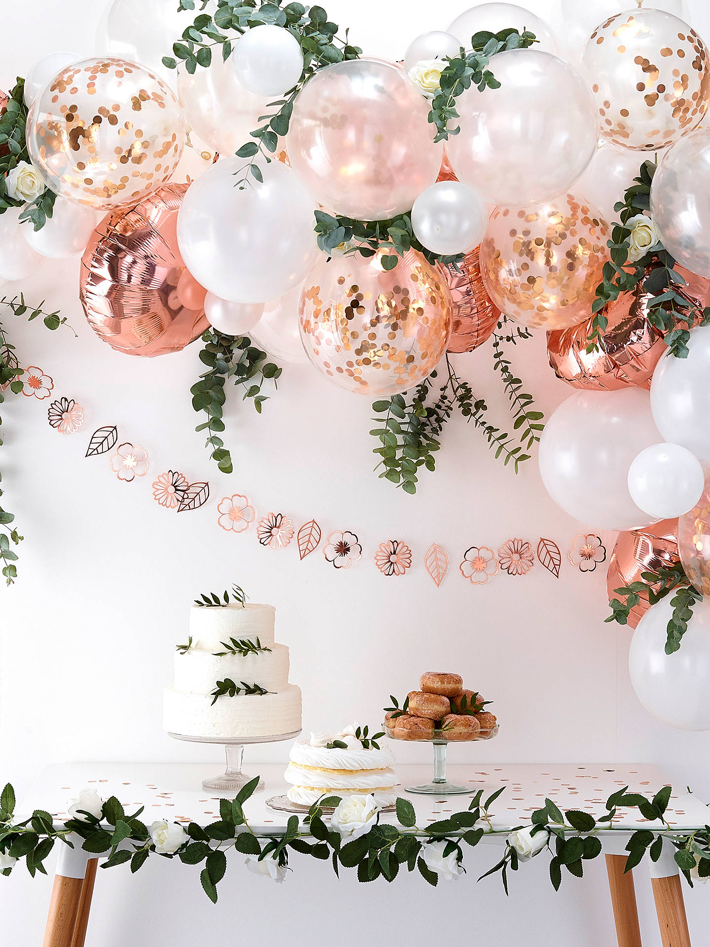 Buy Ginger Ray Rose Gold Balloon Arch Online at johnlewis.com