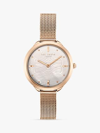 Ted Baker Women's Elena Metal Strap Watch, Rose Gold