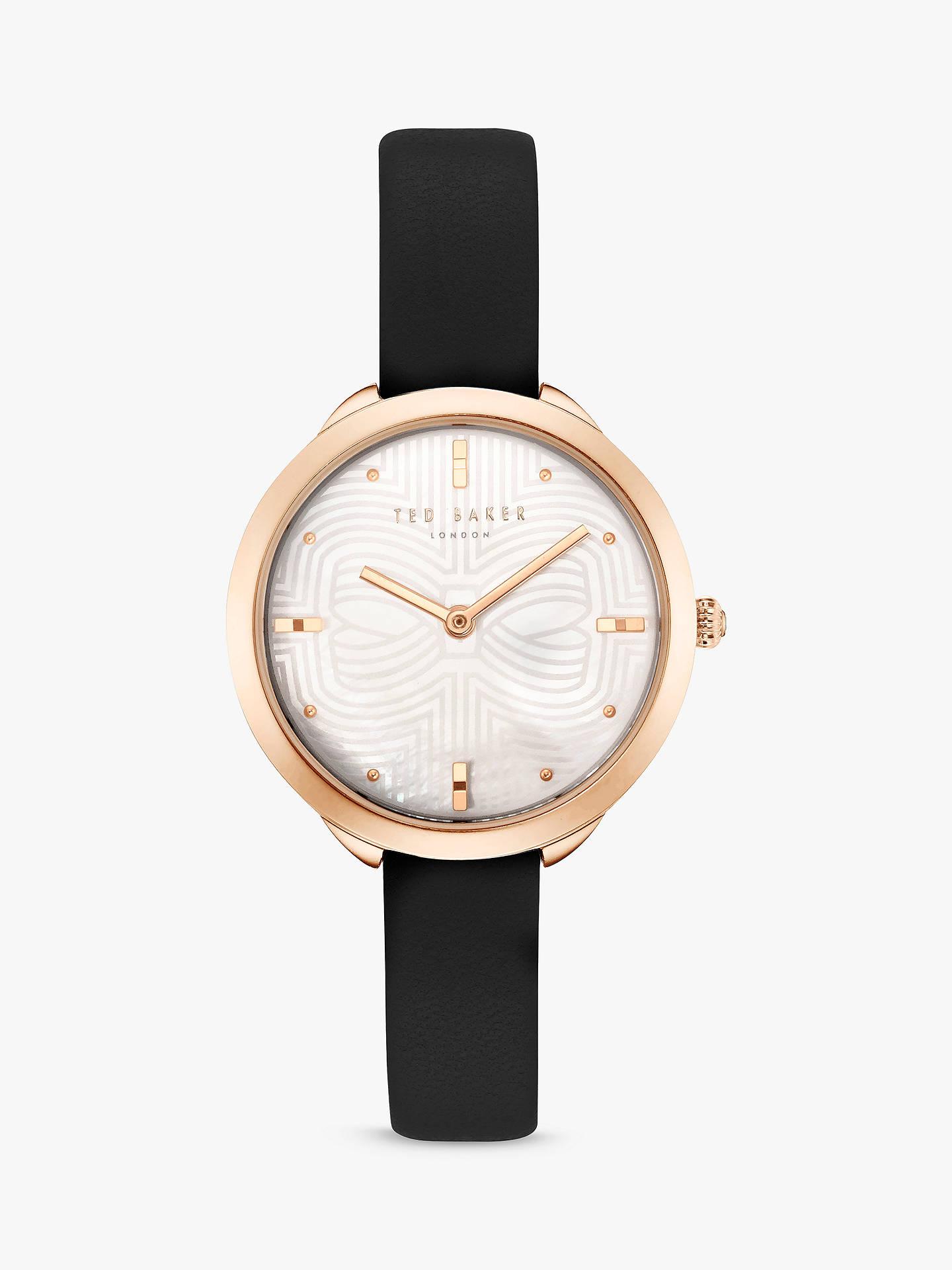 a362de833 Buy Ted Baker Women s Elena Leather Strap Watch