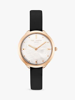 Ted Baker Women's Elena Leather Strap Watch, Black