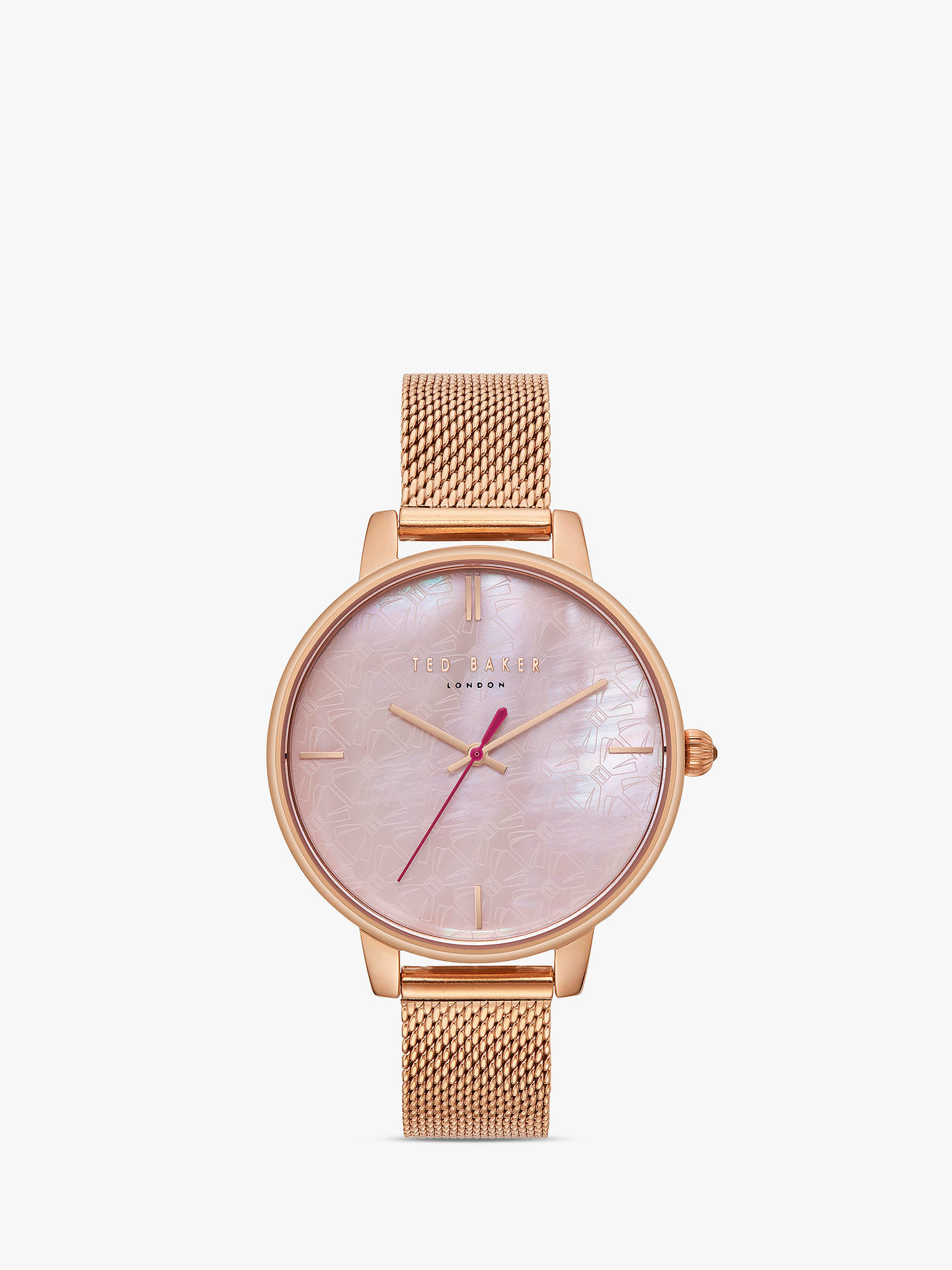 7d5c20245 Ted Baker Women s Kate Mesh Bracelet Strap Watch at John Lewis ...