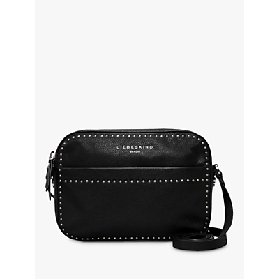 Liebeskind Berlin Stud Love Leather Camera Bag, Black