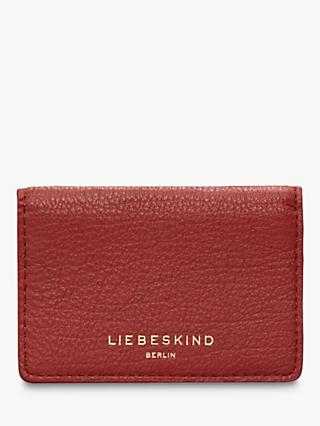 Liebeskind Berlin Basic Mirja Leather Card Holder, Dahlia Red