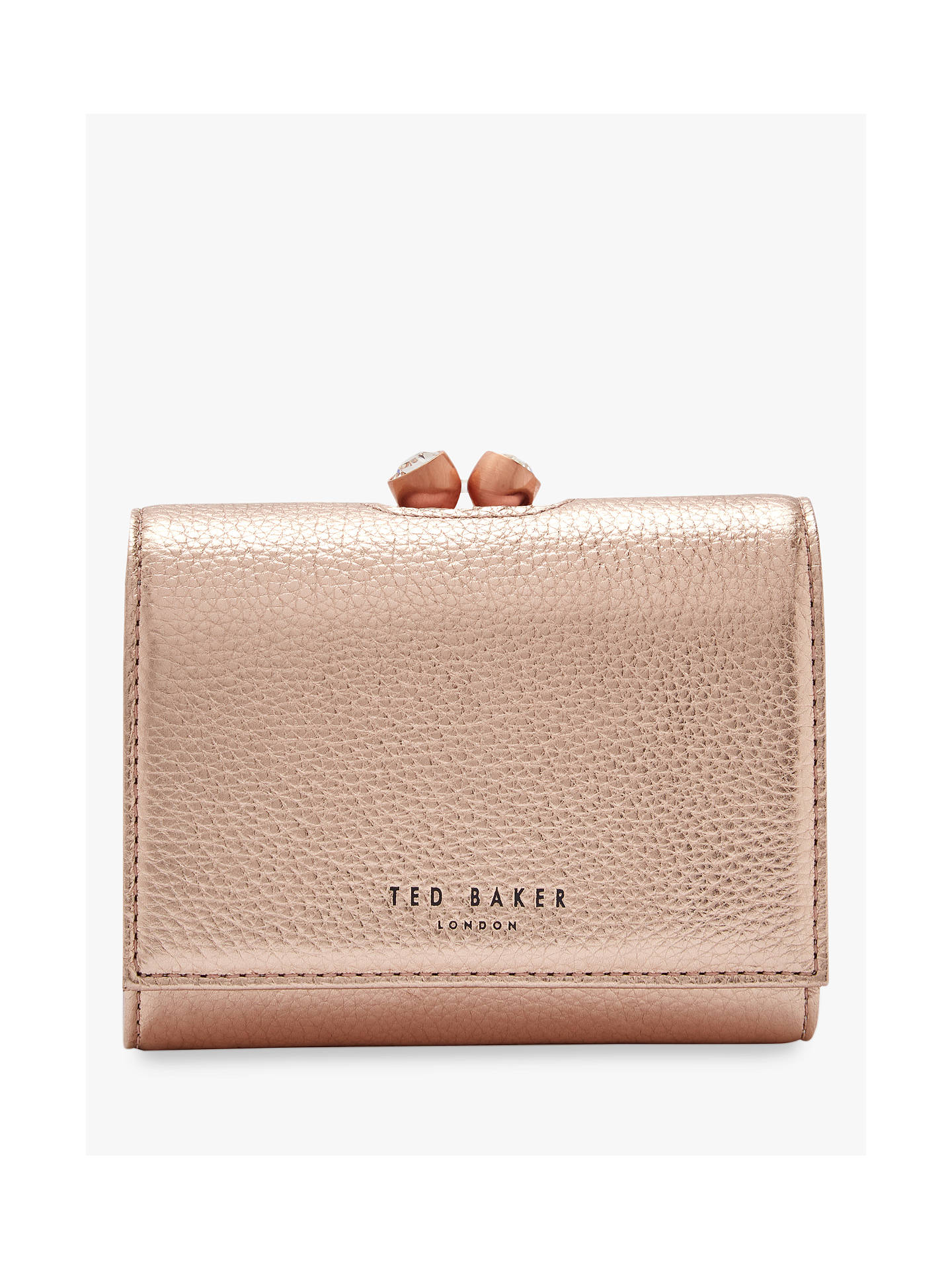 341bfa65243 Buy Ted Baker Valery Leather Mini Purse, Rose Gold Online at johnlewis.com  ...
