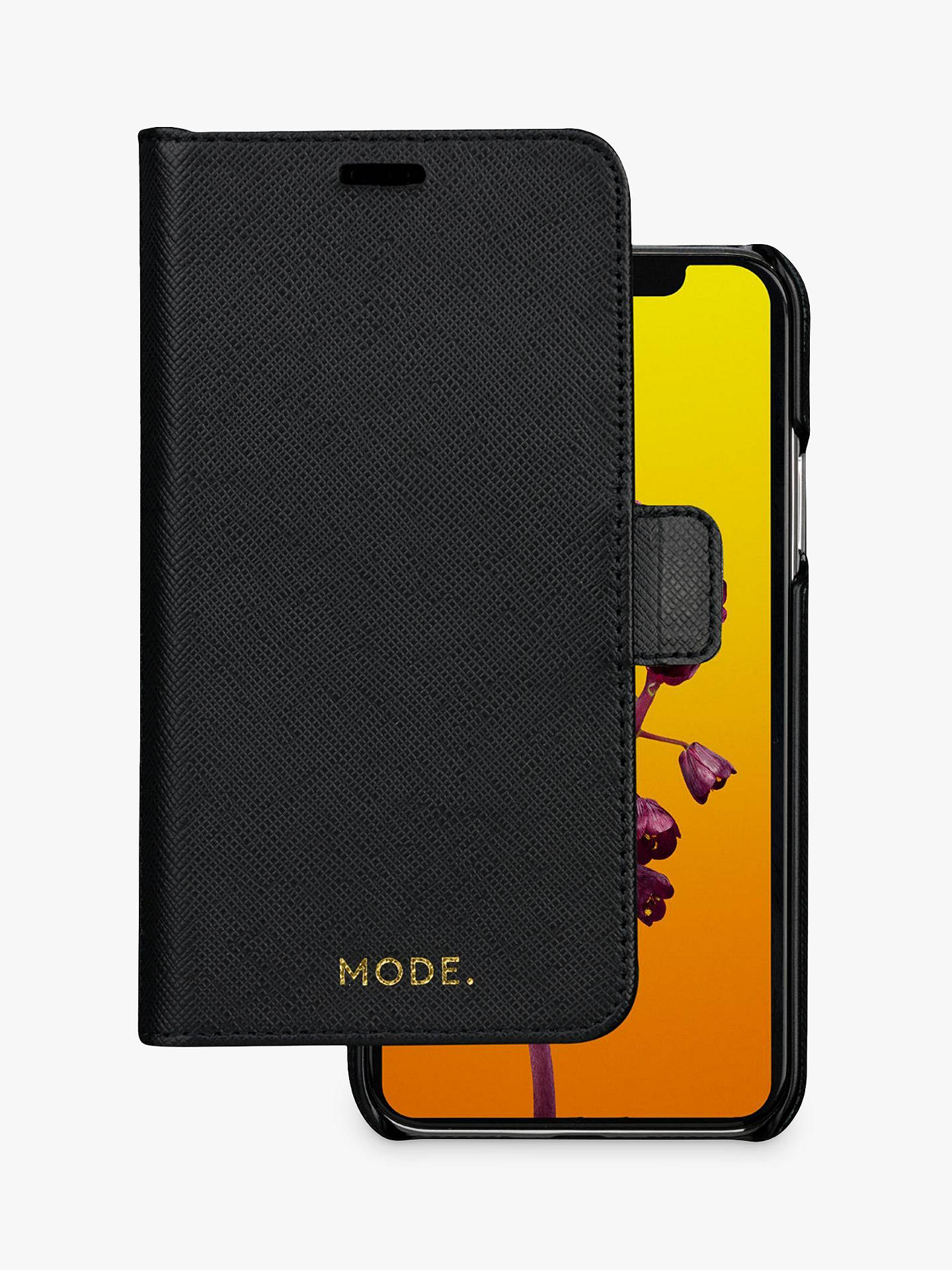 Buy MODE New York Leather dbramante1928 Folio/Cradle Case for iPhone X/XS, Night Black Online at johnlewis.com