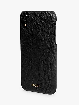 MODE New York Leather dbramante1928 Snap-On Case for iPhone XR, Night Black