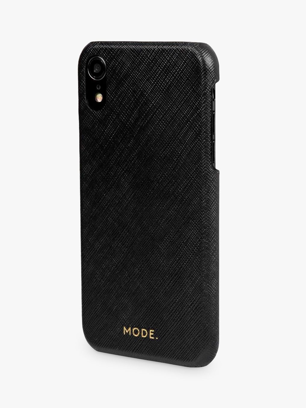 dbramante1928 MODE New York Leather dbramante1928 Snap-On Case for iPhone XR, Night Black