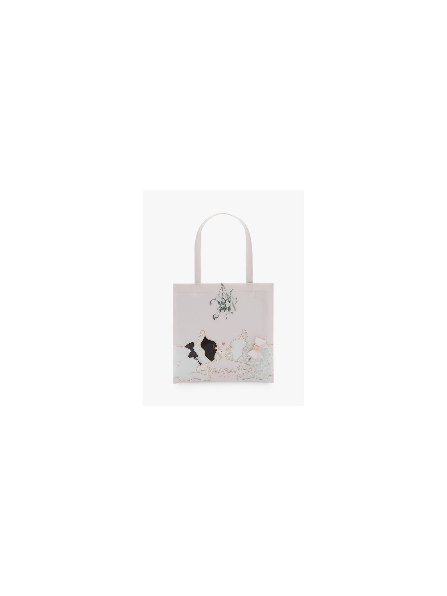 95a4cc9e43b Buy Ted Baker Lolacon Cotton Dog Mistletoe Small Icon Shopper Bag, Pink  Online at johnlewis