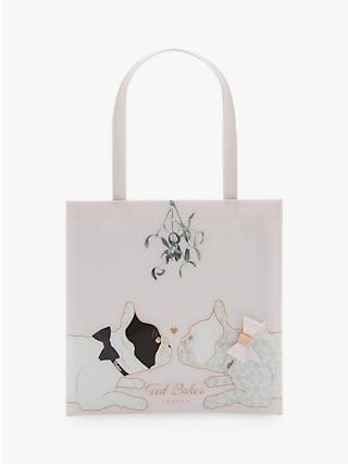 Ted Baker Lolacon Cotton Dog Mistletoe Small Icon Shopper Bag, Pink e09b96ea14