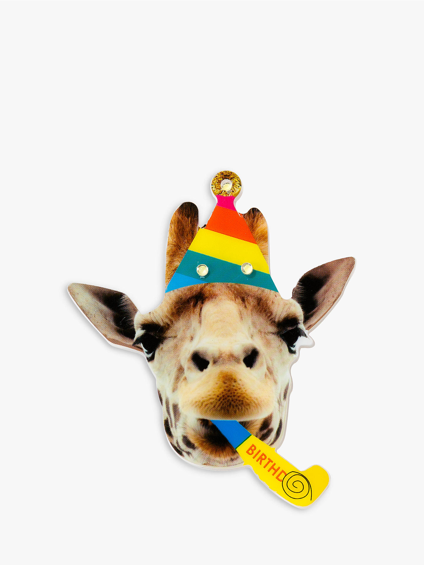 BuyTalking Tables Rainbow Birthday Giraffe Badge Online At Johnlewis
