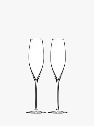 Waterford Elegance Classic Champagne Crystal Glasses, 250ml, Set of 2, Clear