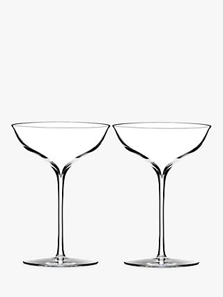 Waterford Elegance Crystal Champagne Coupe Glasses, 230ml, Set of 2, Clear