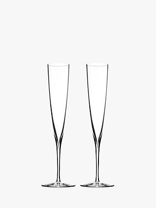 Waterford Elegance Crystal Champagne Trumpets, 170ml, Set of 2, Clear
