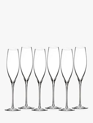 Waterford Elegance Champagne Celebration Crystal Glasses, 242ml, Set of 6, Clear