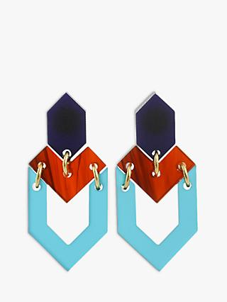 Toolally Houndstooth Drop Earrings