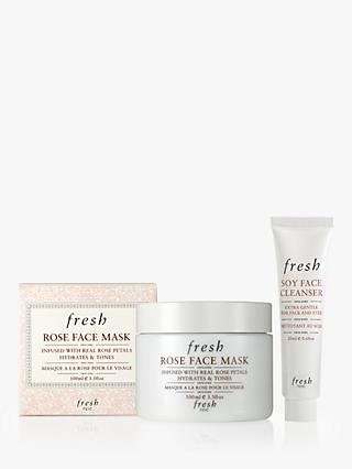 Fresh Rose Face Mask, Full Size with Fresh Soy Face Cleanser, 20ml Gift