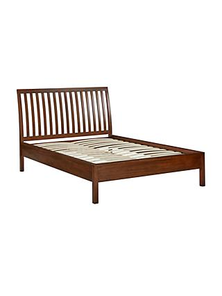 John Lewis & Partners Medan Bed Frame, Double, Dark Wood