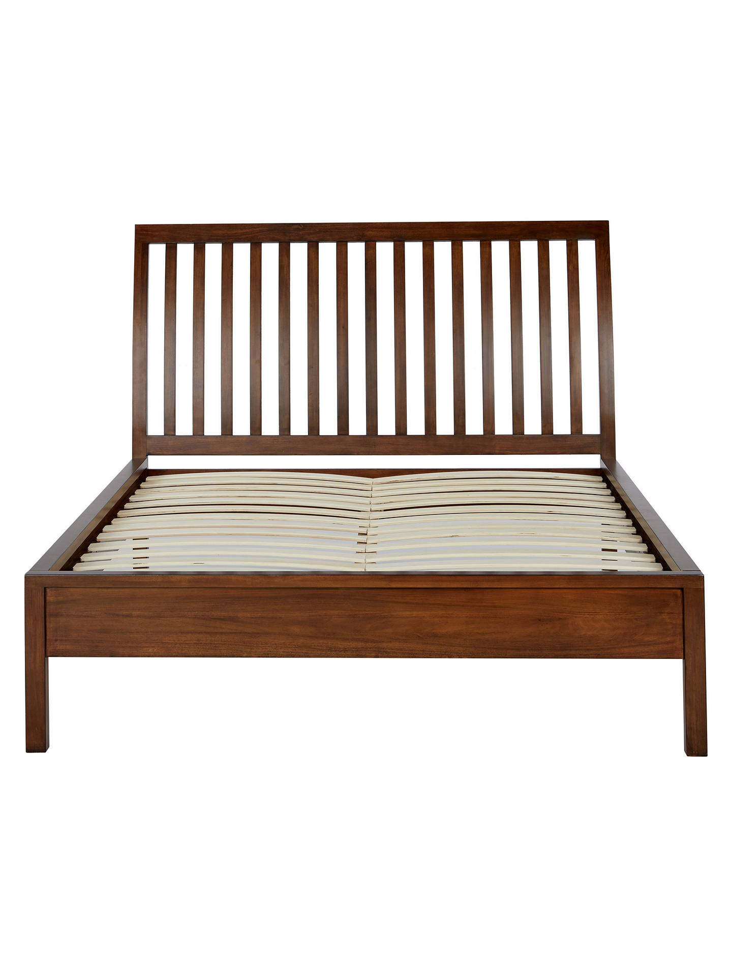 ... Buy John Lewis U0026 Partners Medan Bed Frame, Double, Dark Wood Online At  Johnlewis ...