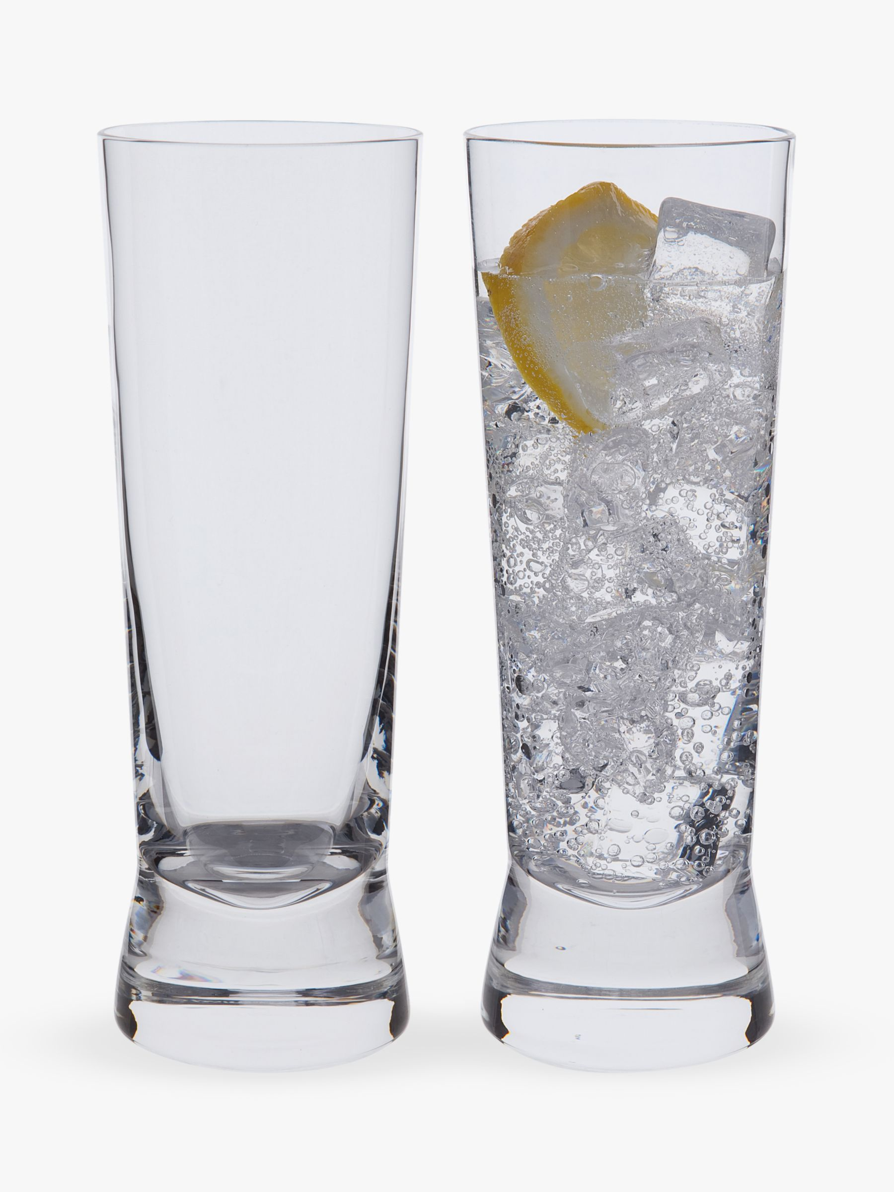 Dartington Crystal Dartington Crystal Gin Story Highball Glass, 250ml, Set of 2, Clear