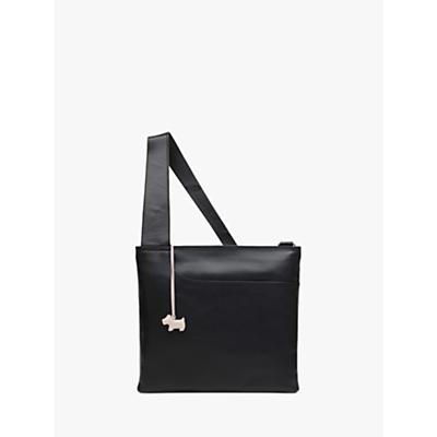 Radley Pockets Leather Large Zip Top Cross Body Bag, Black