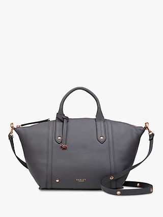 Radley Kew Palace Leather Zip Top Multiway Grab Bag, Charcoal